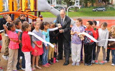 Liberty Heights ribbon cutting