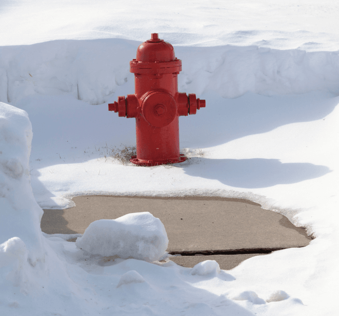 Photograph of fire hydrant cleared of snow